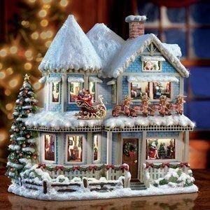 Christmas Village Houses.Thomas Kinkade Christmas Village House Adorable Christmas