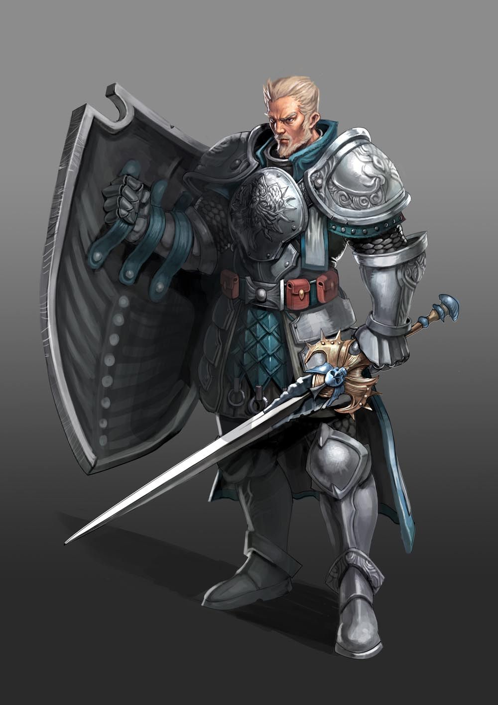 This knight would make the perfect bodyguard | Pathfinder character