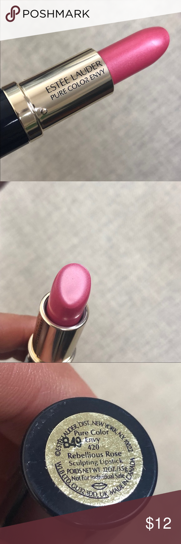 Estée Lauder Lipstick In Rebellious Rose Envy 420 New Estée Lauder Pure Color Envy Lipstick Estee Lauder Lipstick Estee Lauder Pure Color Envy Pure Color Envy