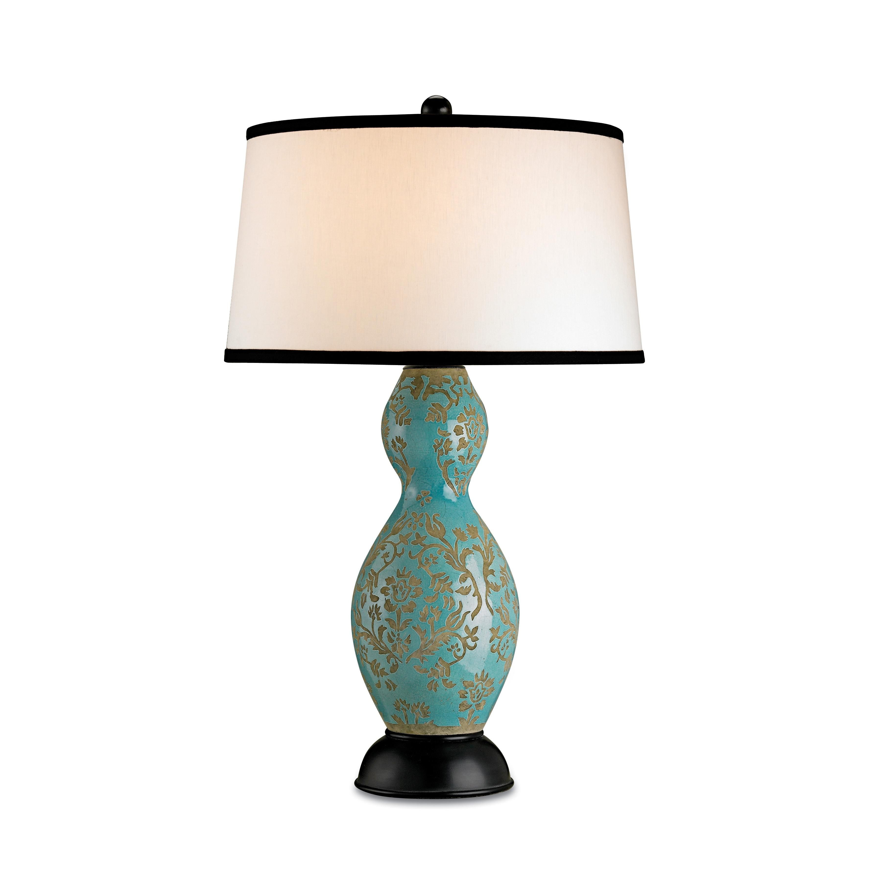 Lovely Turquoise Traditional Style Lamp By Current I D