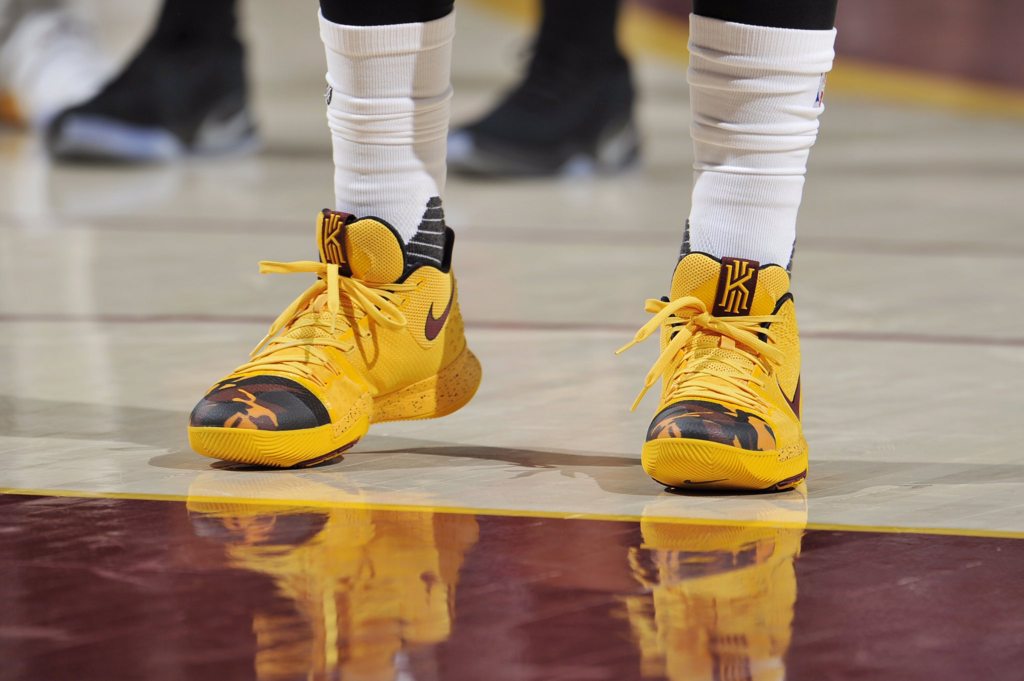 A closer look at @KyrieIrving in the Nike Kyrie 3 tonight vs. Indiana
