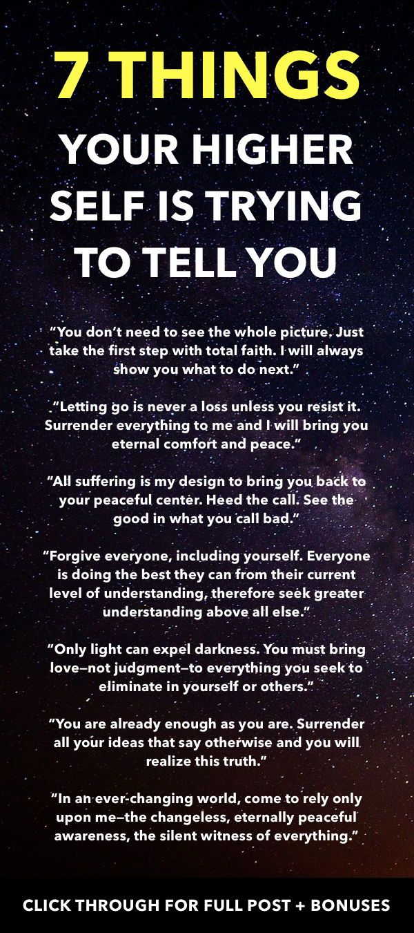 7 Things Your Higher Self is Trying to Tell You