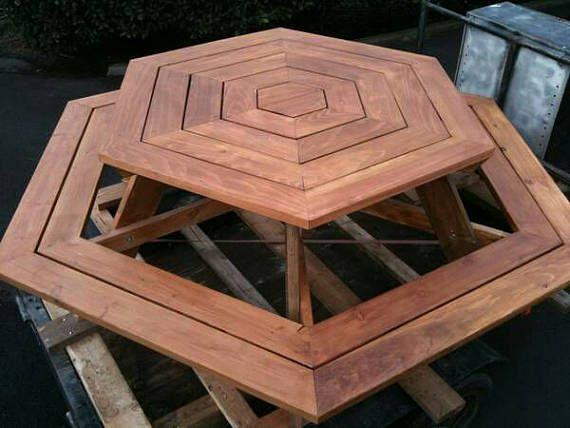 Custom Made Picnic Tables, Large Thru Bolt Picnic Tables, Redwood Picnic  Table.
