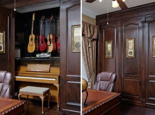 A Hidden Music Studio In This Grand Home Office Home Home Studio