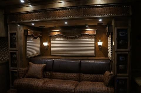 Outlaw Conversion Slide Out With A Custom Leather Sofa And