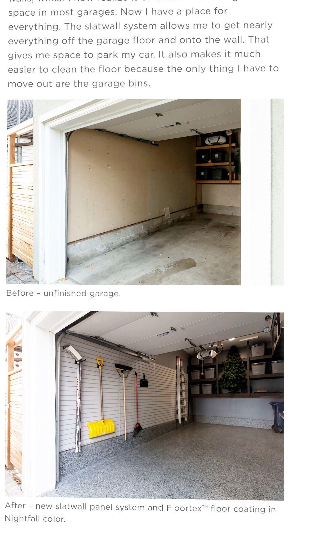 Pin by Kim Adamo on Moving Slat wall, Flooring, Garage floor