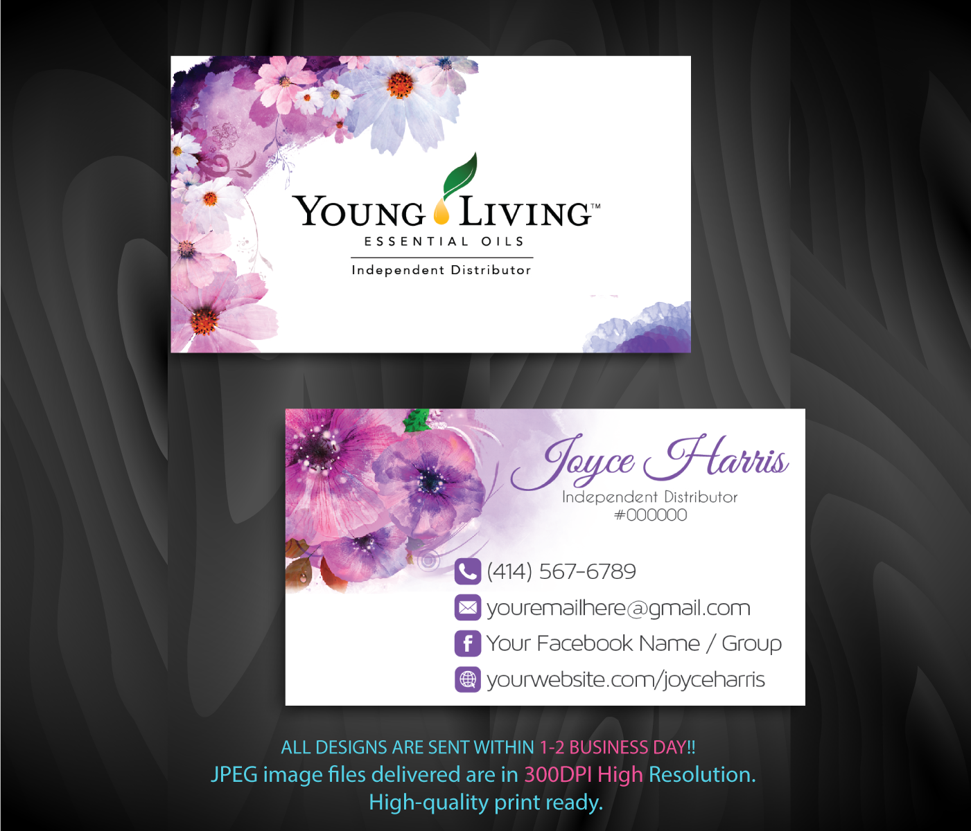 Personalized Young Living Business Card, Young Living Business
