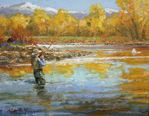 Art fly fishing on pinterest fly fishing rainbow trout for Fly fishing art