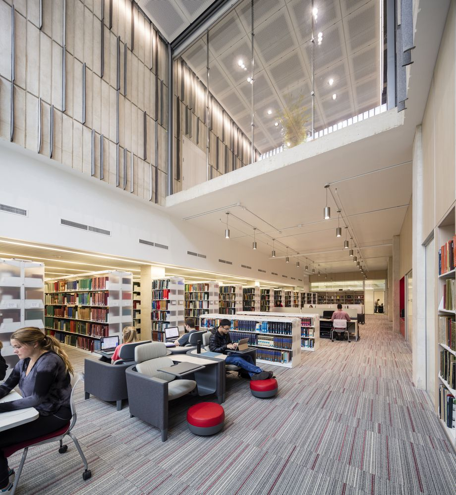 Gallery Of Voxman Music Building Lmn Architects 27 Higher Education Design Classroom Architecture Library Architecture