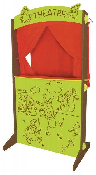 Theatre Bois Et Tissu #iletaitplusieursfois #baby #bebe #kid #enfant #jeuxvintage #toy #jeuxenbois