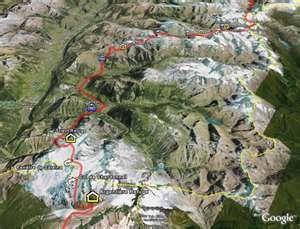"""La """"Haute Route""""... the map"""