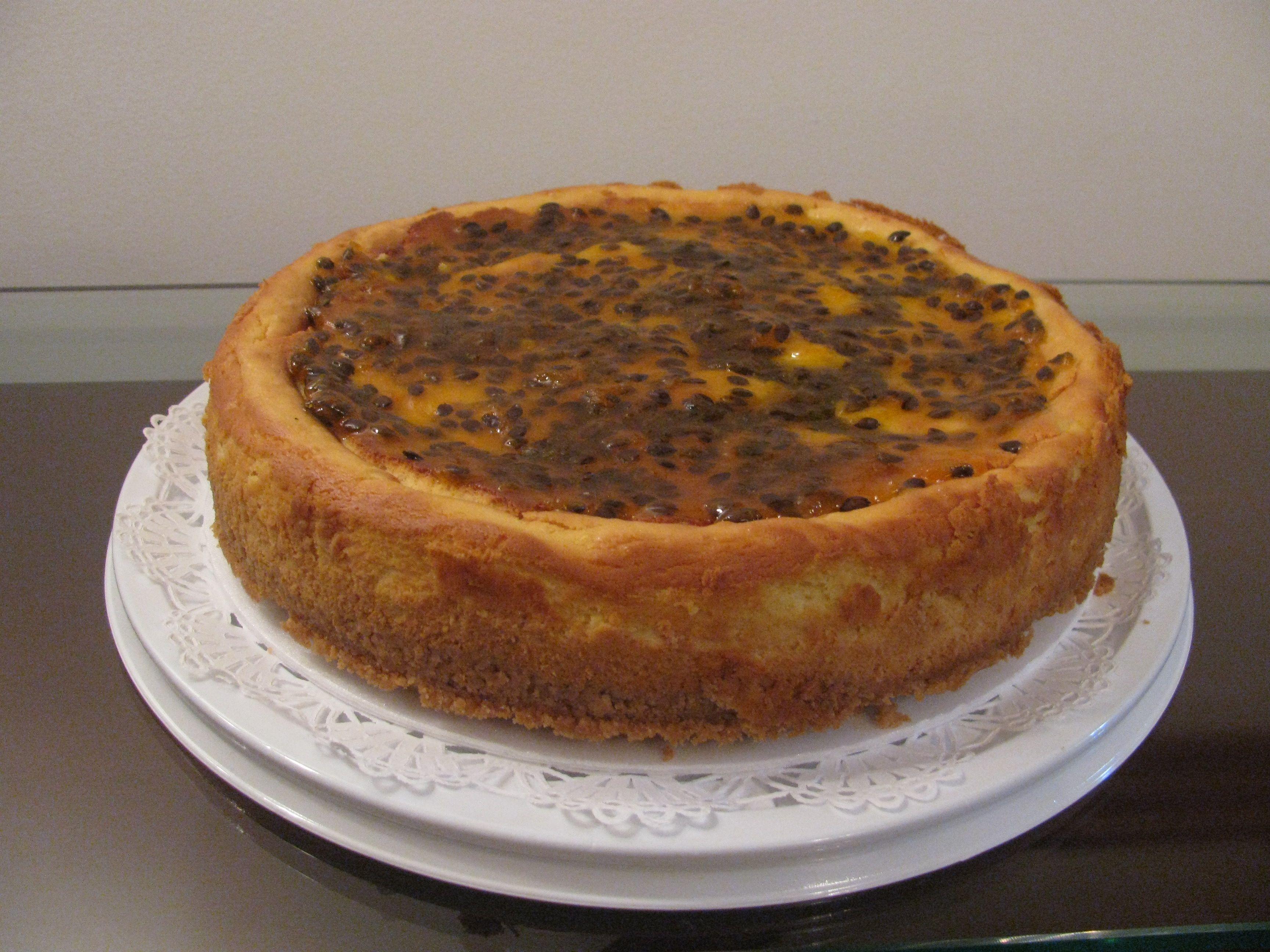 Cheesecake de Maracuyá.