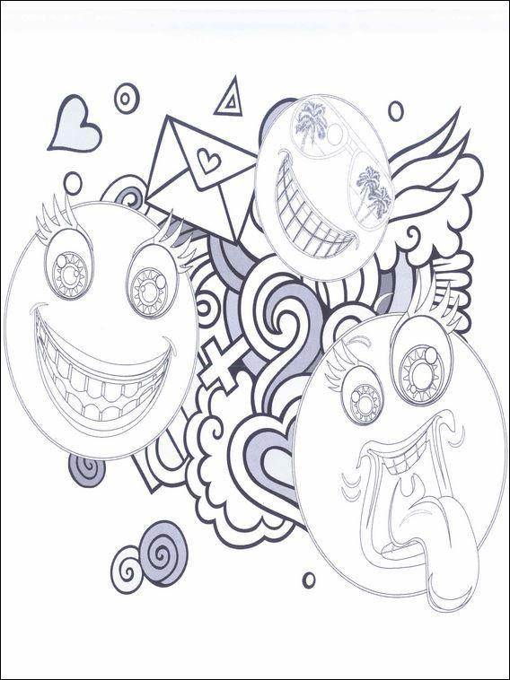emojis  emoticons 22 ausmalbilder für kinder malvorlagen