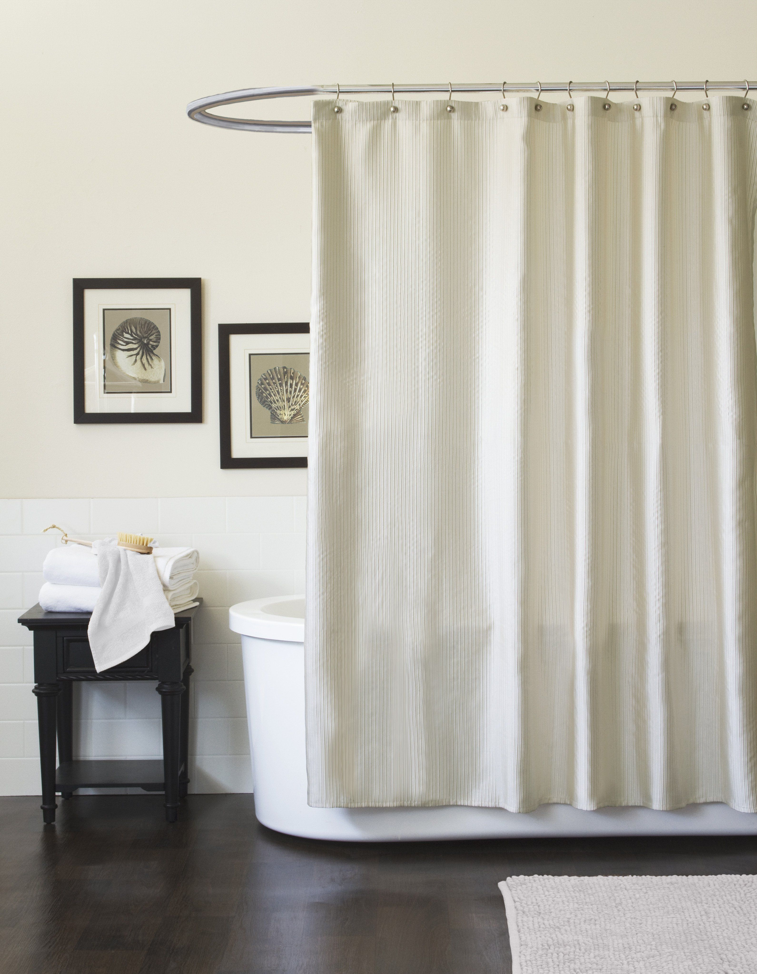 Channel shower curtain products