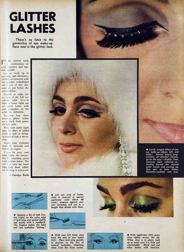 Glitter lashes, 1966