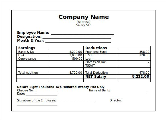 image result for payslip template pdf