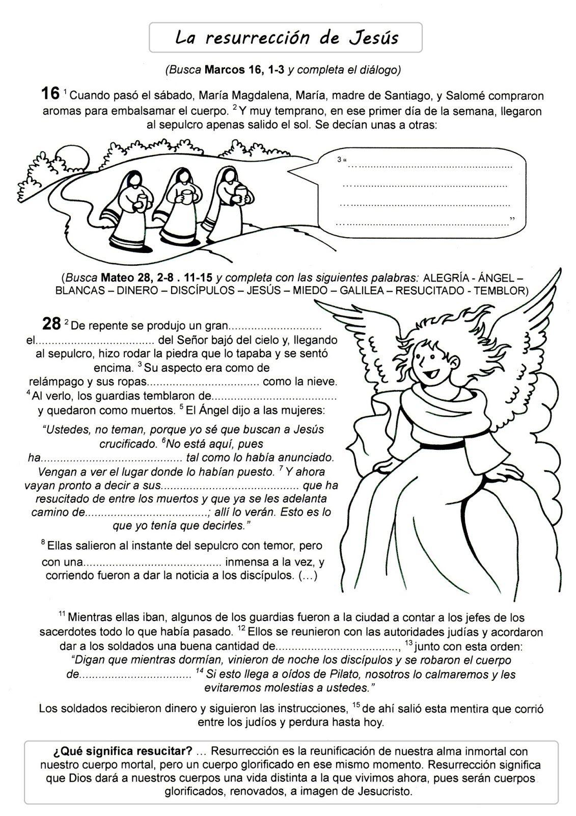 39 La Resurreccion Jpg 1131 1600 Resurreccion De Jesus Manualidades De Iglesia Para Niños Enseñanza De La Historia