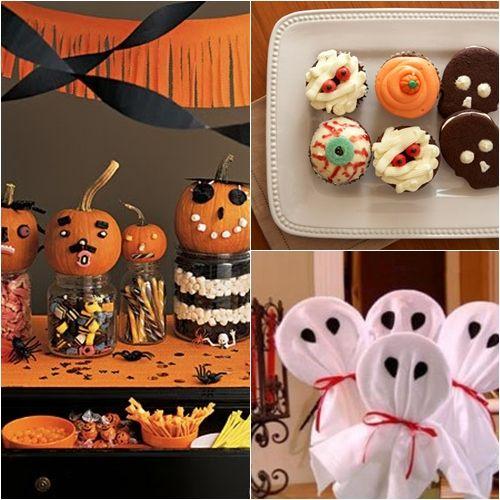 Ideas Halloween para niños Comida para niño, Mesa de dulces y