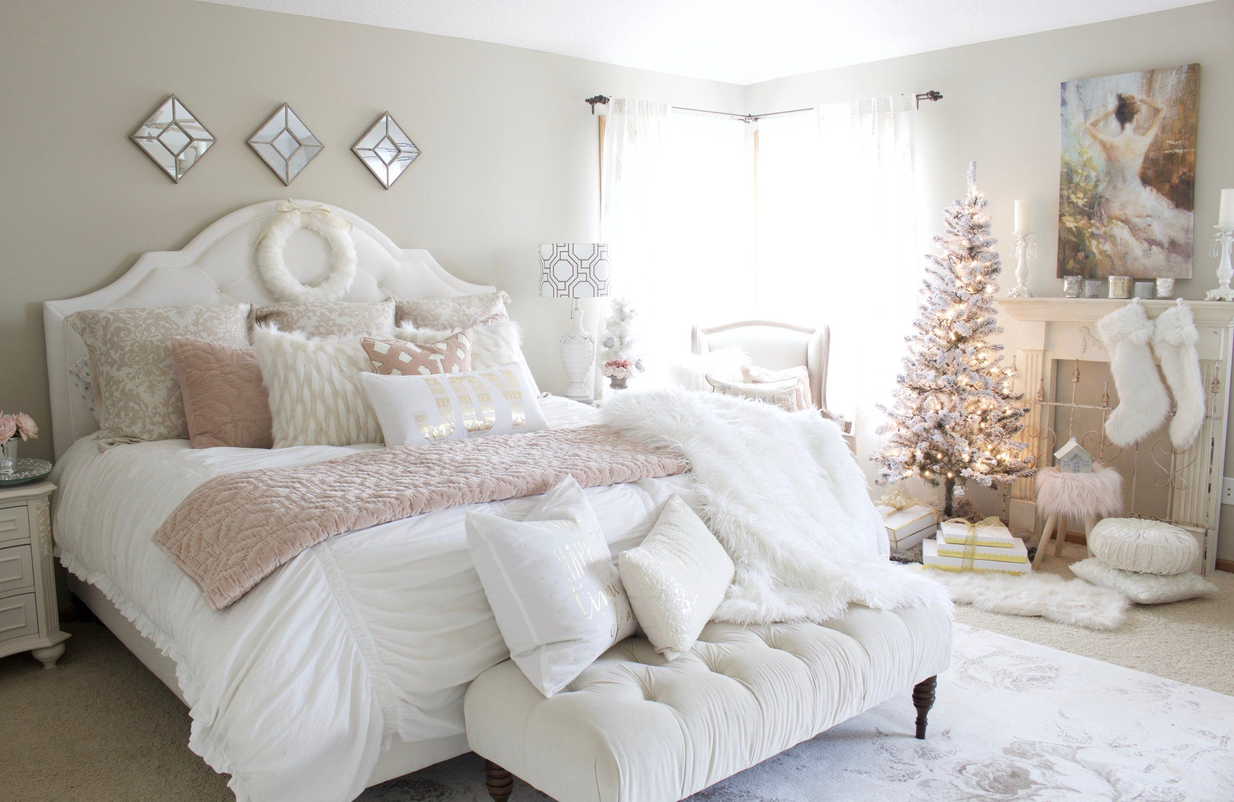 Best Home For Christmas A Blush Pink Bedroom Bloggers Best 400 x 300