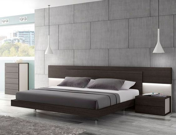 Schlafzimmer Wenge ~ European made wenge platform bed with lighting in headboard this