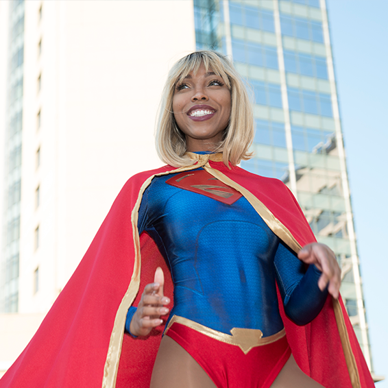 Momocon In Atlanta Georgia Animation Gaming Anime And Comic Convention Convention Outfits Cosplay Supergirl