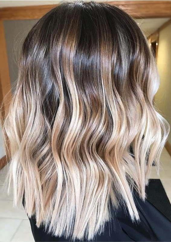 Pretty Blonde Balayage Hair Colors with Dark Roots in 2019 | Voguetypes #haircolorbalayage #darkblondehair