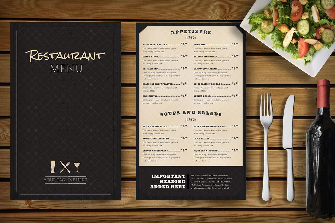 Restaurant Menu Mockup Menu Mockup Menu Restaurant Menu Design Template