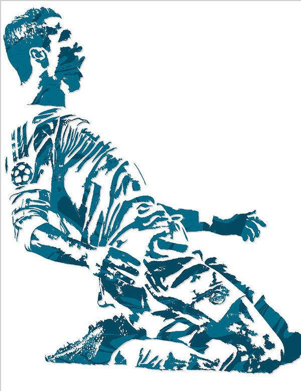 Cristiano Ronaldo Real Madrid Pixel Art 2 Art Print By Joe