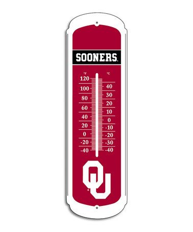University of Oklahoma Outdoor Thermometer by BSI Products on #zulily
