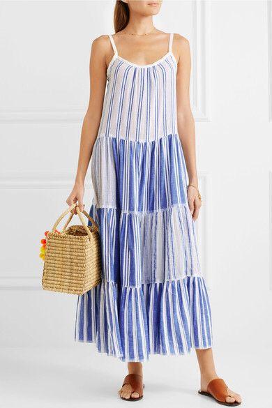 striped sundress - White Lemlem The Cheapest Online Cheap Sast Sale Comfortable Discount Deals Marketable 3ynNp