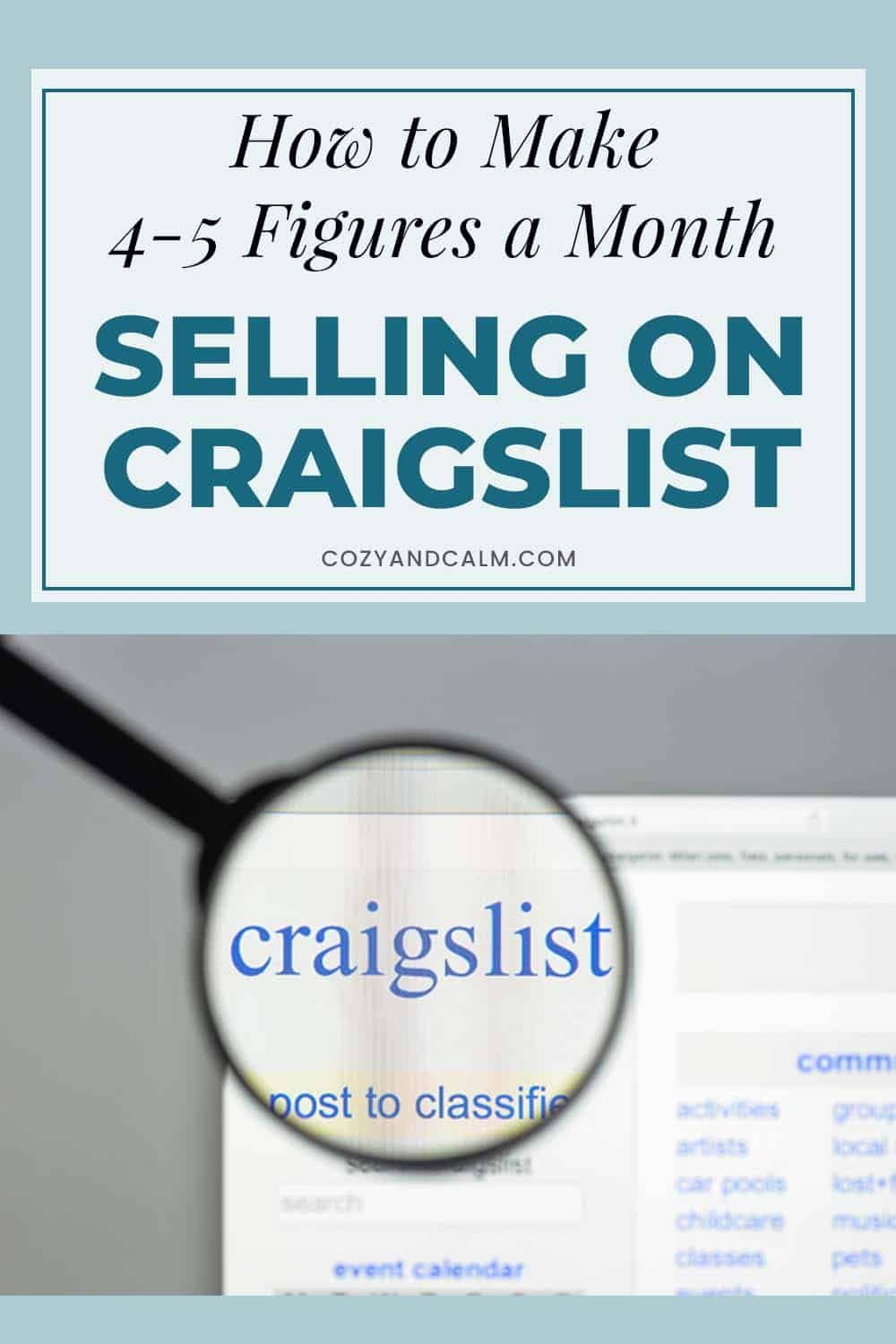 How To Sell On Craigslist 4 Ways To Bank 4 5 Figures A Month Selling On Craigslist Things To Sell Budget Help