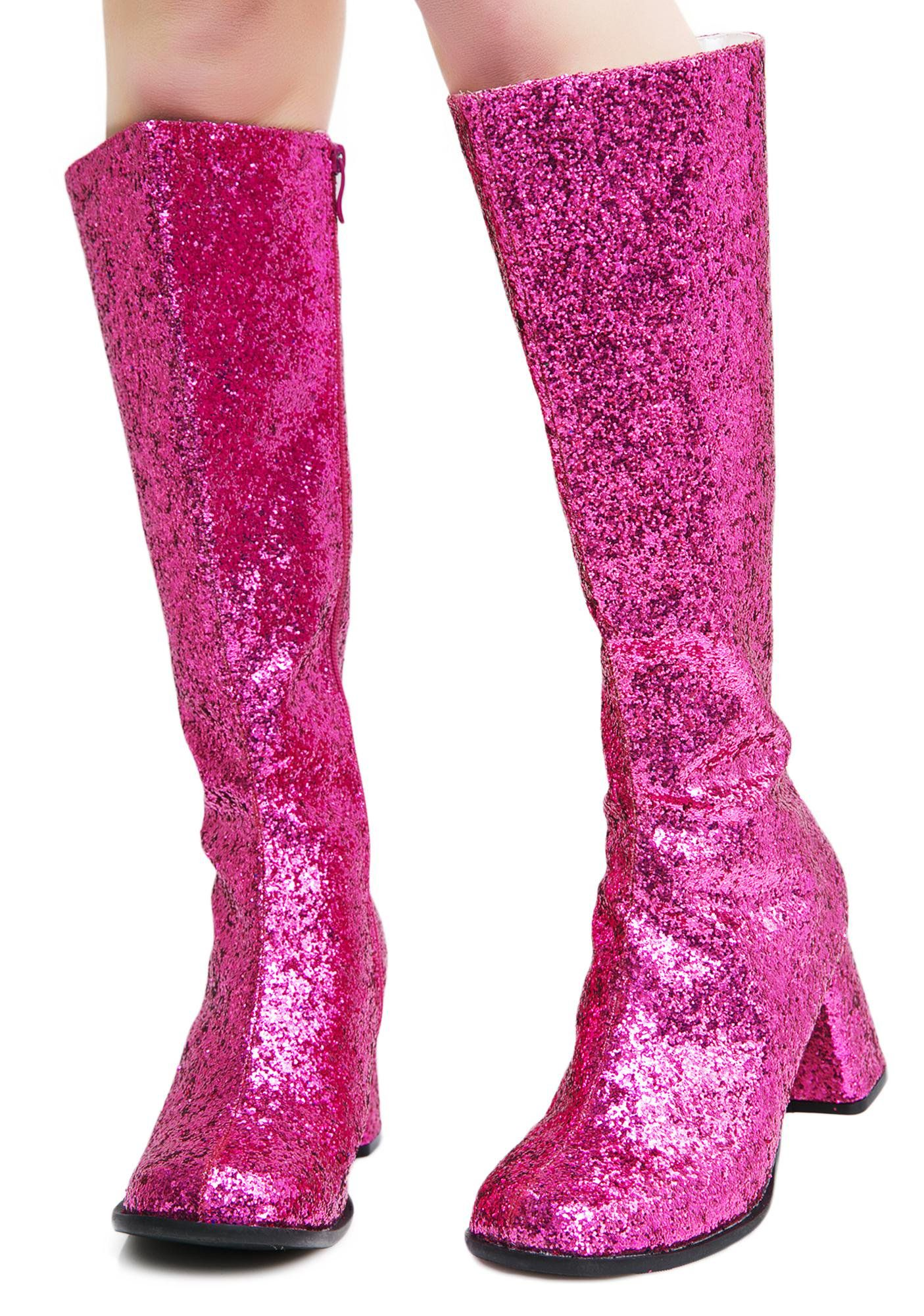 Go Go Baby Glitter Boots