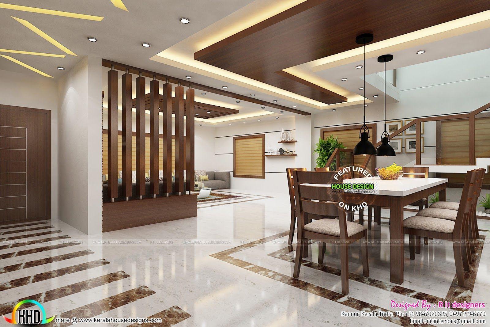 21 Dining Room False Ceiling Designs Ideas #ceili di 21  Desain