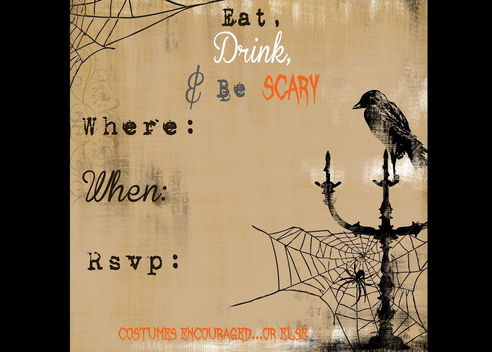 scary halloween invitations printable free secrets of a modern