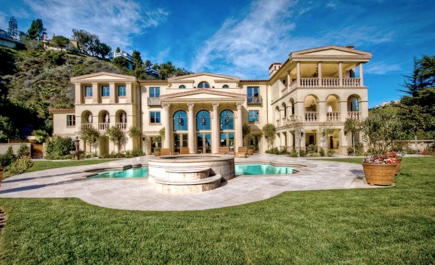 19 Million 500 Square Foot Tuscan Mansion In Los Angeles Ca