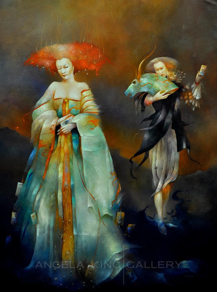 Anne Bachelier — Angela King Gallery | Fantasy art illustrations, Surreal  art, Painting illustration