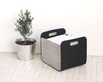 Felt Storage Bin / Felt Basket / Household Storage / Modern Storage Basket  / Color Storage