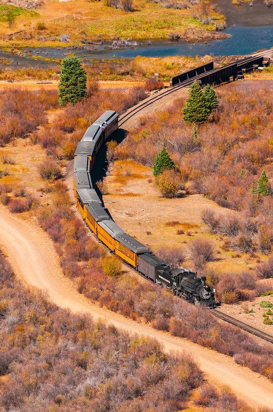 Durango And Silverton Narrow Gauge Railroad Train Departing Silverton Colorado Usa Train Pictures Train Tracks Old Steam Train