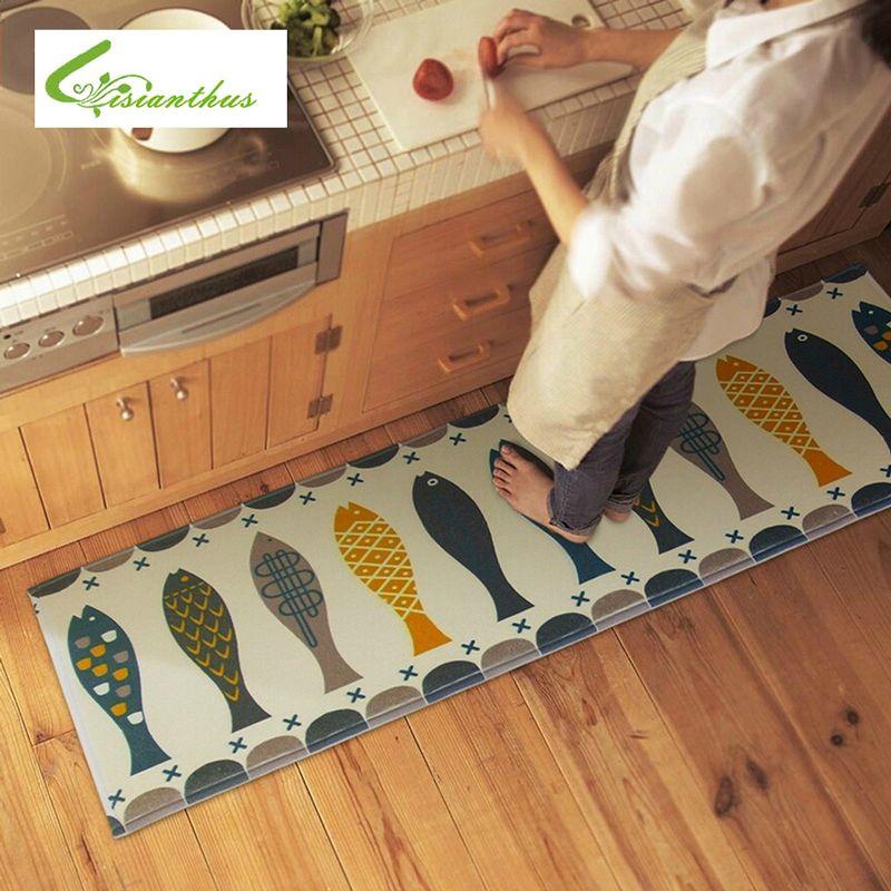 Captivating 45*120cm Modern Style Bibulous Antiskid Memory Foam Carpet Modern Living  Room Kitchen Mat Floor