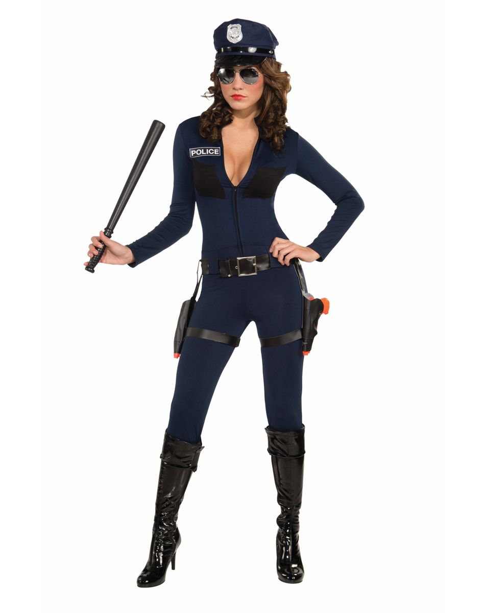 be careful when wearing this tight fitting outfit guys will struggle keeping their eyes on the road if the traffic stopping cop costume is in their visual - Girls Cop Halloween Costume
