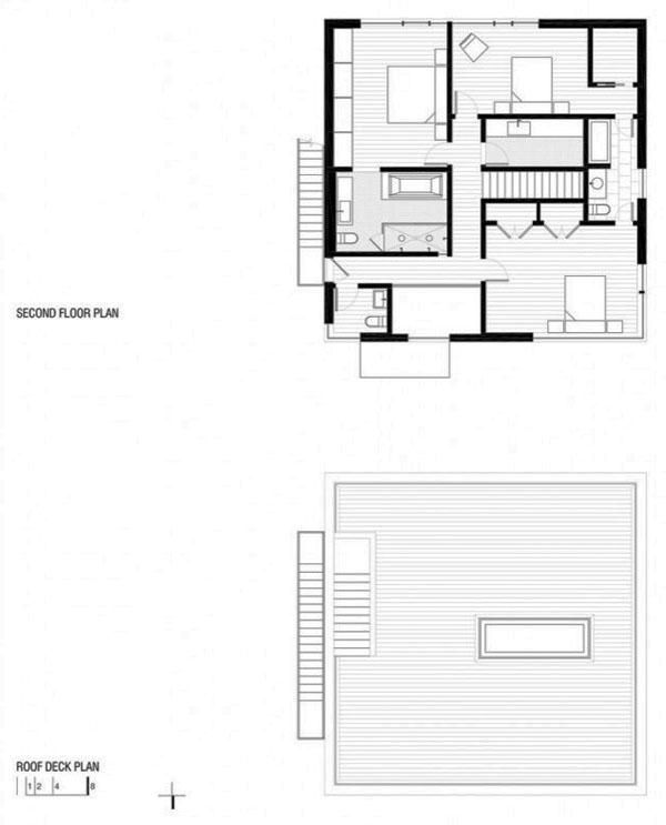 More cube house floor plan.