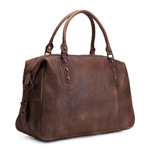 Handmade Full Grain Leather Travel Bag, Duffle Bag, Mens Handbag ... e840f46723