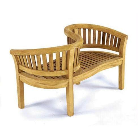 curve love seat unique furniturewood furnituregarden - Wooden Garden Furniture Love Seats