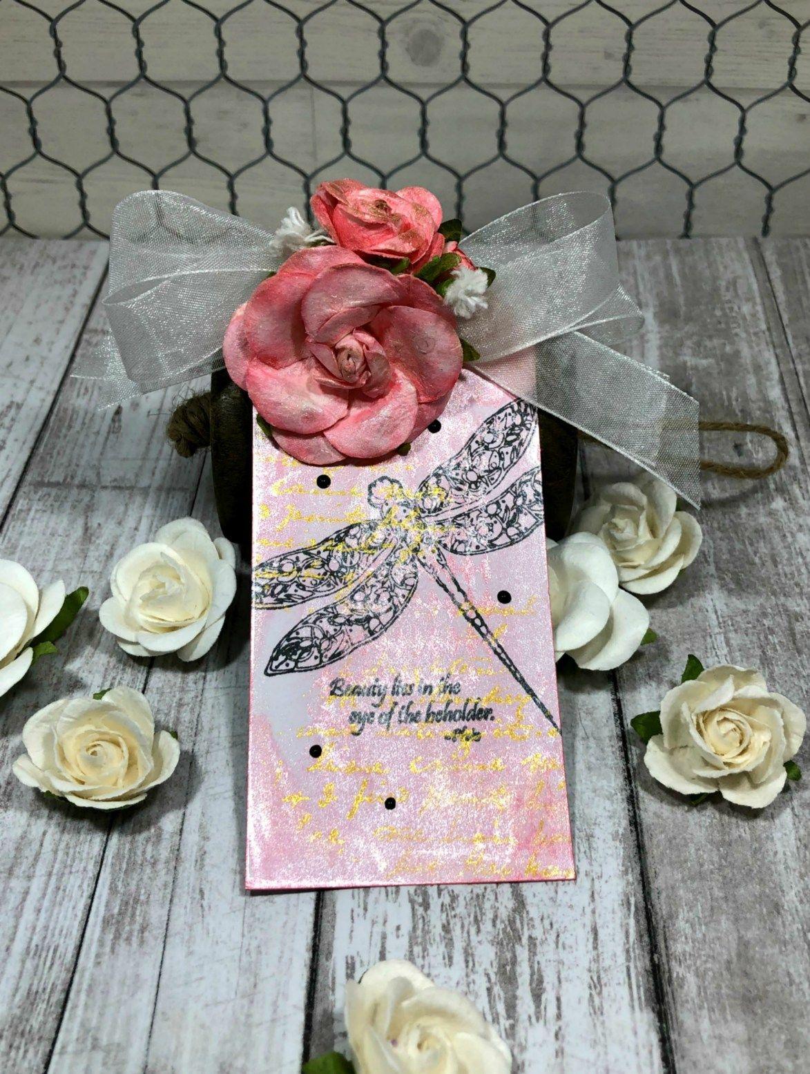 Imagine Blog Floral Embellished Tag Colour Paper Flowers Rose