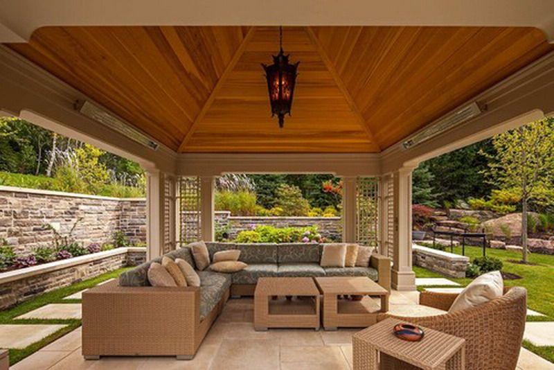 Nice Custom Ceiling In Modern Patio Gazebo Patio Design Outdoor