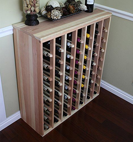 Best Wine Rack Creekside 56 Bottle Premium Table Wine Rack Redwood By Creekside Exclusive 12 Inch Deep Desig Wine Rack Pantry Storage Cabinet Pantry Cabinet