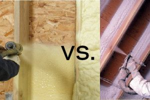 Open Vs Closed Cell Spray Foam Insulation Construction