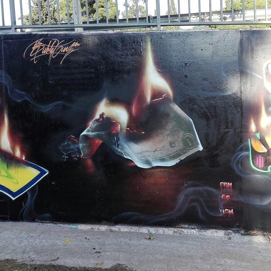Cool new piece 'My money my problems' by @bublegumsr in #Spain! -- #globalstreetart #streetart #urbanart #art #money #spraypainting