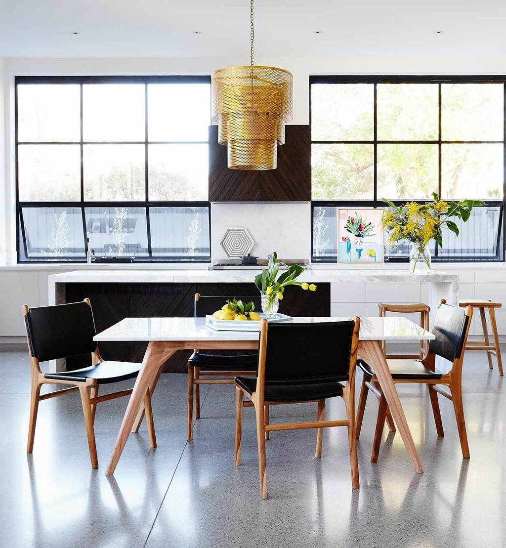 Woodrow Marble Rectangle Dining Table In White Dining Table Marble Rectangle Dining Table Dining Table Black