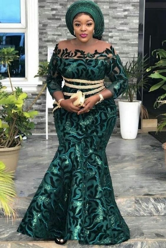 Aso Ebi Styles For Wedding Guest With Images African Party Dresses African Lace Dresses African Lace Styles